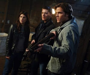 dean winchester, ruby, and supernatural image
