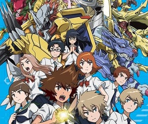 tri, digimon, and digimon tri image