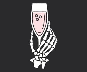 art, bones, and drink image