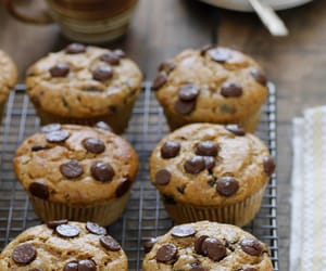 food, muffins, and chocolate image
