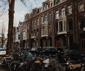 amsterdam, bicycle, and travel image