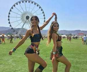 festival, girl, and coachella image
