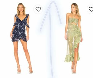 heels, sheer dress, and revolve image