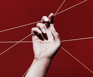 red, aesthetic, and hand image
