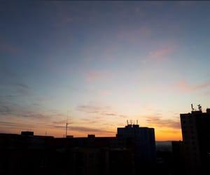 city, morning, and skies image