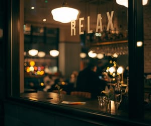 cafe, light, and relax image