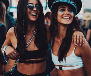 music festival, friends, and coachella vibes image