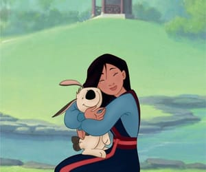 disney, mulan, and dog image