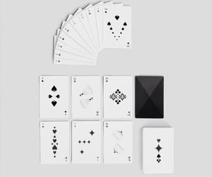black & white, modern, and deck of cards image