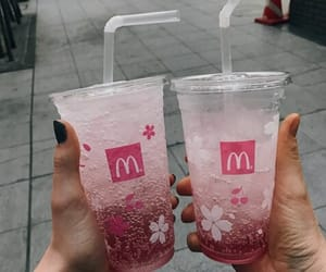 pink, drink, and McDonalds image