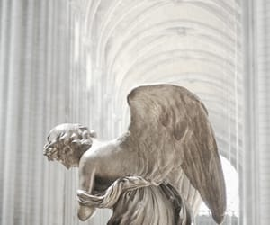 angel, sculpture, and white image