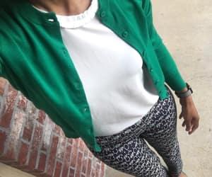 ballet flats, cardigan, and casual image