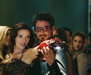 robert downey jr, iron man, and Scarlett Johansson image