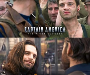 bucky, Marvel, and capitan america image