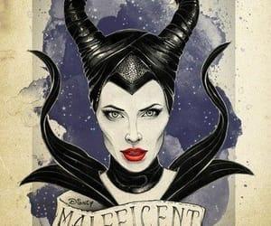 disney, maleficent, and angelinajolie image