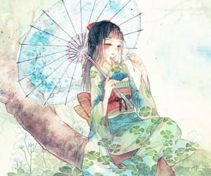 art, illustration, and 和風 image