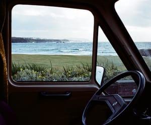 car, sea, and nature image