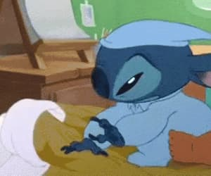 stitch, cute, and sleep image