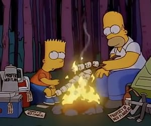 fire, simpson, and simpsons image