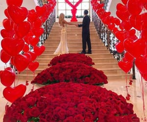 couple, red, and surprise image