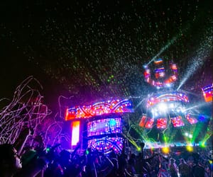 confetti, happiness, and rain image