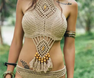 beach wear, bikini, and outfit image