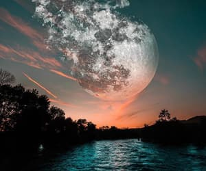 moon, beautiful, and landscape image