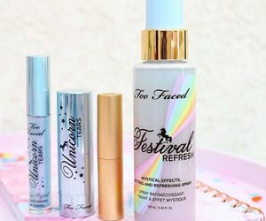 make up, unicorn, and too faced image