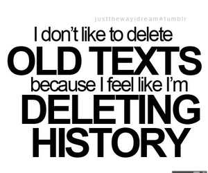 text, history, and delete image