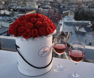 city, rose, and roses image