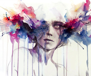 art, color, and watercolor image
