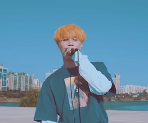 aesthetic, blue, and yellow hair image