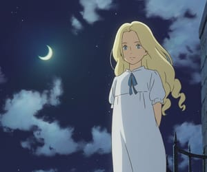anime, moon, and when marnie was there image