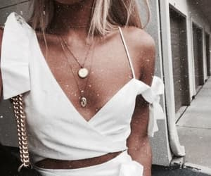necklace, girl, and style image