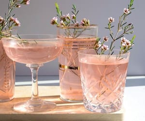 drinks, flowers, and pink image