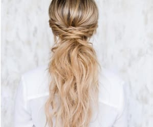 blonde, hairstyles, and ponytail image