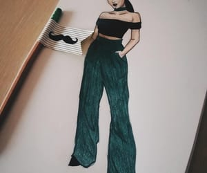 designer, drawing, and fashion image