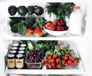 avocado, berries, and fridge image