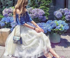 girl, blue, and fashion image