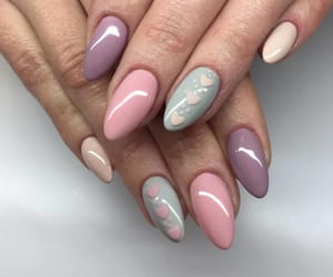 fashion, nails, and pastel image