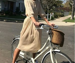 aesthetic, bicycle, and dress image
