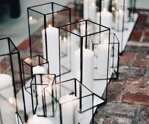 candles, interior, and wedding image