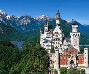 castles, germany, and mountains image