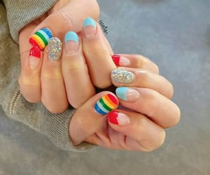 korean, nail art, and nail polish image