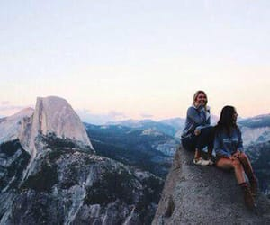 freedom, mountain, and girls image