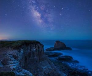 costa, mar, and Noche image