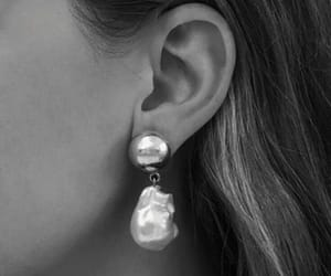 accessories, black&white, and earrings image
