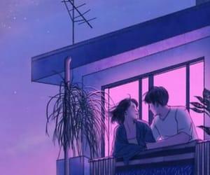 anime, blue, and grunge image