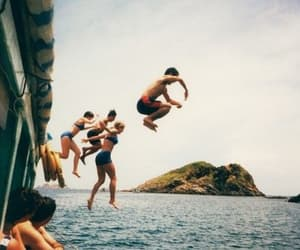 summer, friends, and sea image