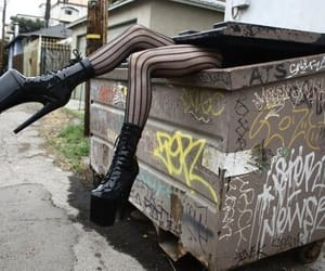 black, goth, and container image
